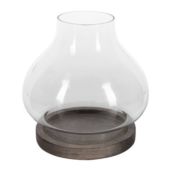 Glass Lantern Style Tealight Holder