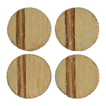 Stripe Coaster - Set of 4 - Gold