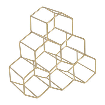 Hexagon Wire Wine Rack - Gold