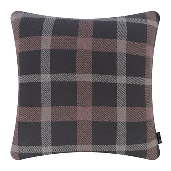 Check Cushion - 50x50cm - Grey & Pewter
