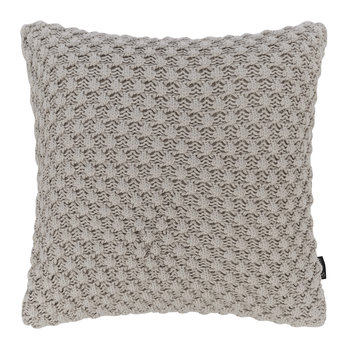 Textured Knitted Cushion - 50x50cm - Grey