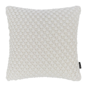 Textured Knitted Cushion - 50x50cm - Ivory