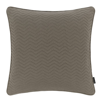 Zig Zag Quilted Pillow - 50x50cm - Warm Gray