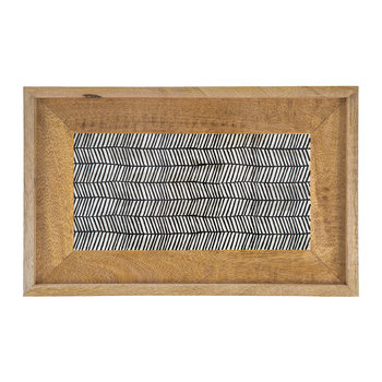 Chevron Stripe Wooden Tray