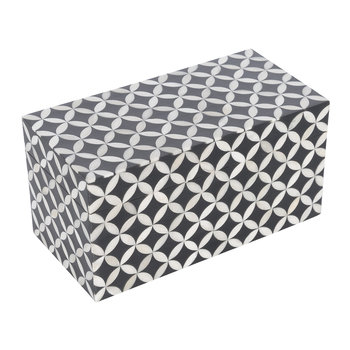 White Circle Print Trinket Box