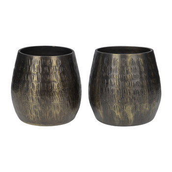 Etched Metal Votive - Set of 2