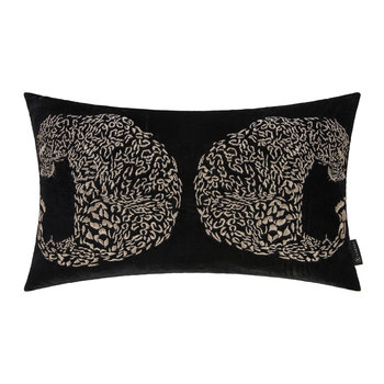 Black Leopard Cushion - 30x50cm