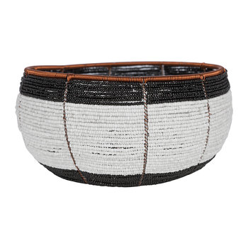 Beaded Black & White Bowl