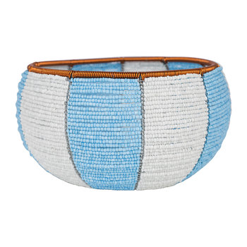 Blue Colour Blocked Bowl - Medium