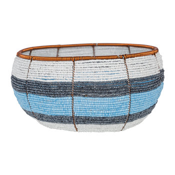 Blue Stripe Bowl Large