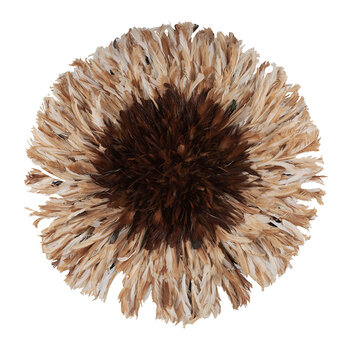 Headdress Feathered Wall Decoration - Beige