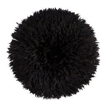 Headdress Feathered Ornament - Large - Black