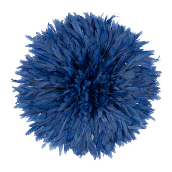 Headdress Feathered Ornament - Small - Blue