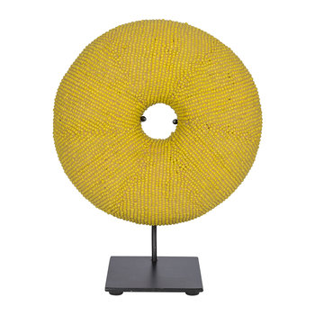 Bangle Beaded Doughnut Ornament - Yellow
