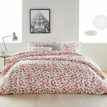 Wild Geo Duvet Cover - Blush