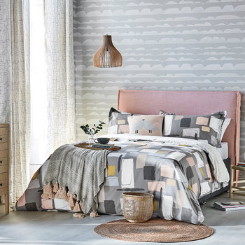 Composition Duvet Cover - Putty