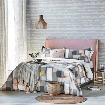 Composition Duvet Cover - Putty - Double