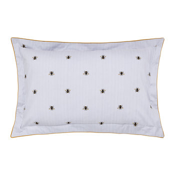 Botanical Bee Oxford Pillowcase - Blue