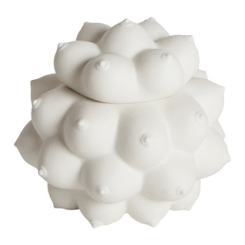 Georgia Orb Trinket Box - White