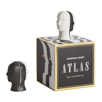 Atlas Salt and Pepper Shakers