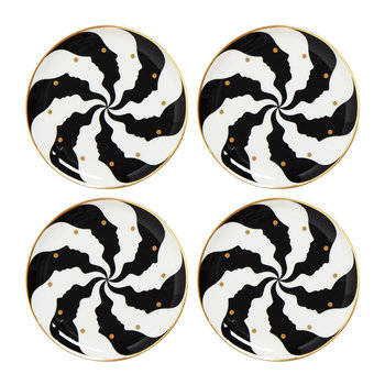 Atlas Coasters - Set of 4 - Black/White