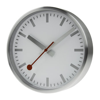 Classic Metal Wall Clock - Pure Silver