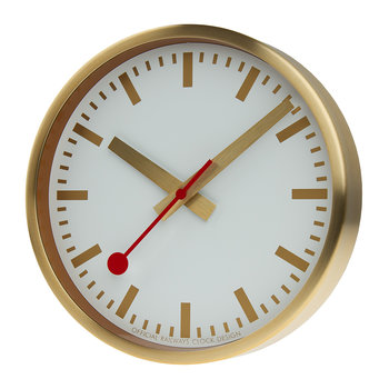Classic Metal Wall Clock - Pure Gold