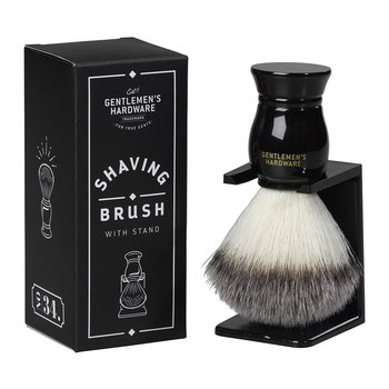 Shaving Brush & Stand Set - Black