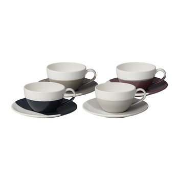 Coffee Studio Cappuccino Cup and Saucer - Set of 4