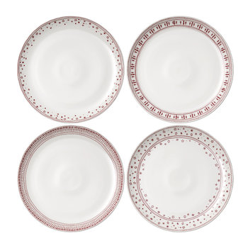 Holiday Accent Dinner Plate - Set of 4