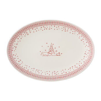 Holiday Oval Platter - 43cm