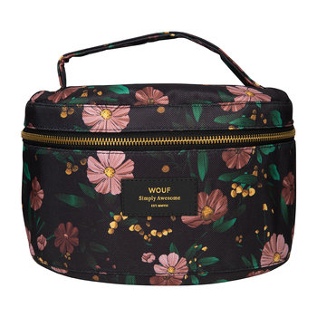 Black Flowers Cosmetic Case