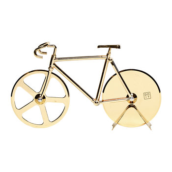 Fixie Bicycle Pizza Cutter - Gold
