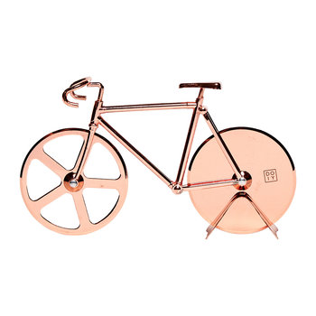 Fixie Bicycle Pizza Cutter - Copper
