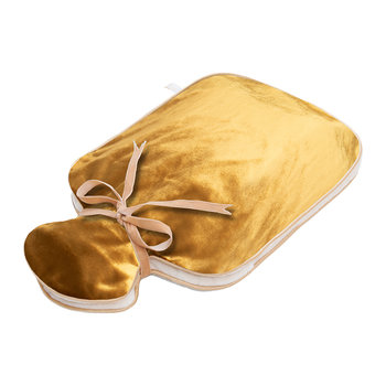 Silk Velvet Hot Water Bottle - Gold