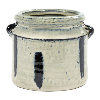 Zebra Pot - Black/White