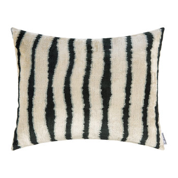 Velvet Cushion - 40x50cm - Blue Stripe Pattern