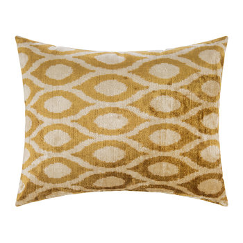 Velvet Cushion - 40x50cm - Yellow Pattern