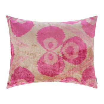 Velvet Cushion - 40x50cm - Pink Circle Pattern