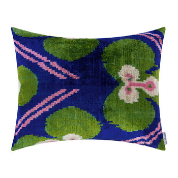 Velvet Cushion - 40x50cm - Green Clover Pattern