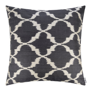 Silk Ikat Cushion - 60x60cm - Blue Pattern