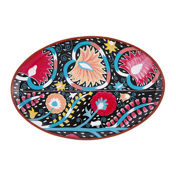 Ikat Hand-painted Iron Tray