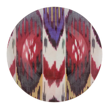 Ikat Glass Plate