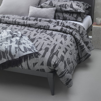 Graffiti Duvet Cover - Charcoal