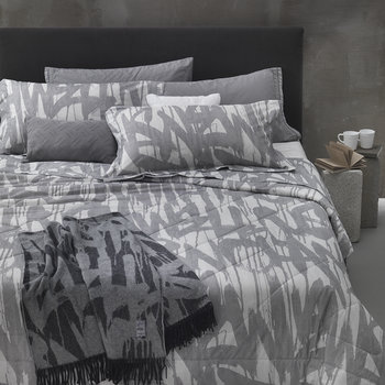 Graffiti Duvet Set - Grey