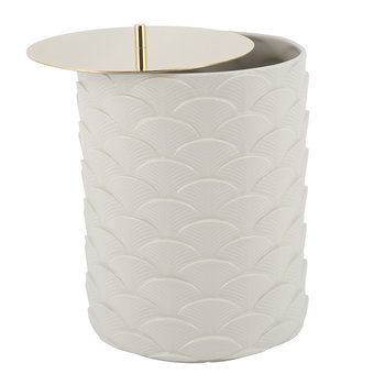 Peacock Waste Basket - White