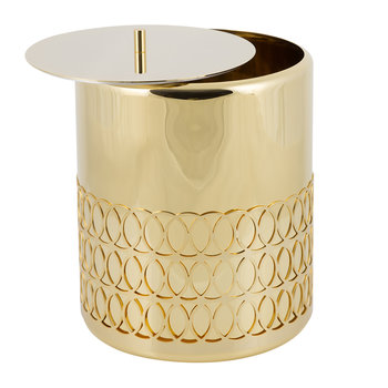 New York Waste Basket - Gold