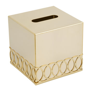 New York Tissue Box - Gold
