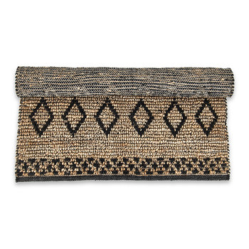 Ambara Jute Rug - Black/Natural