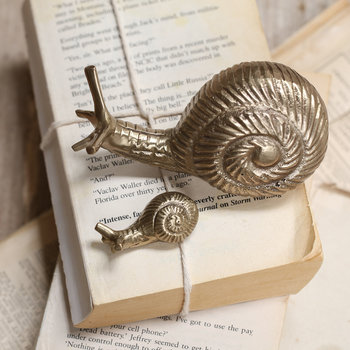 Snail Paper Weight - Antique Brass